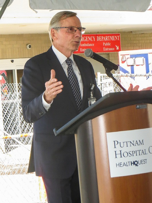 PHC President Peter Kelly addresses the gathering. Photo by Eric Gross