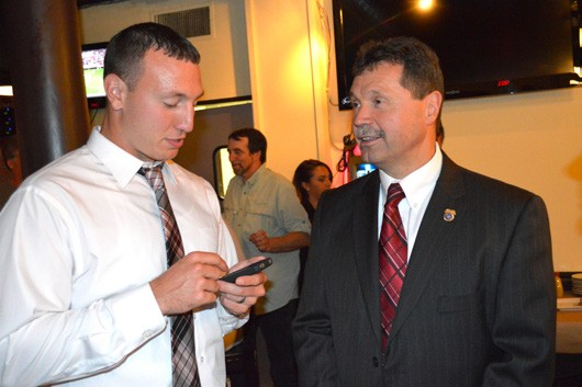 Kevin McConville (right) during the 2013 Putnam County Sheriff campaign. Don Smith trounced him in the primary. Photo by Douglas Cunningham