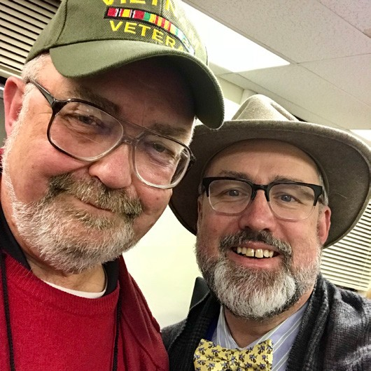 Karl Rohde, director of the Putnam County Veterans Service Agency, with Courier publisher Douglas Cunningham last Thursday. Photo by Douglas Cunningham