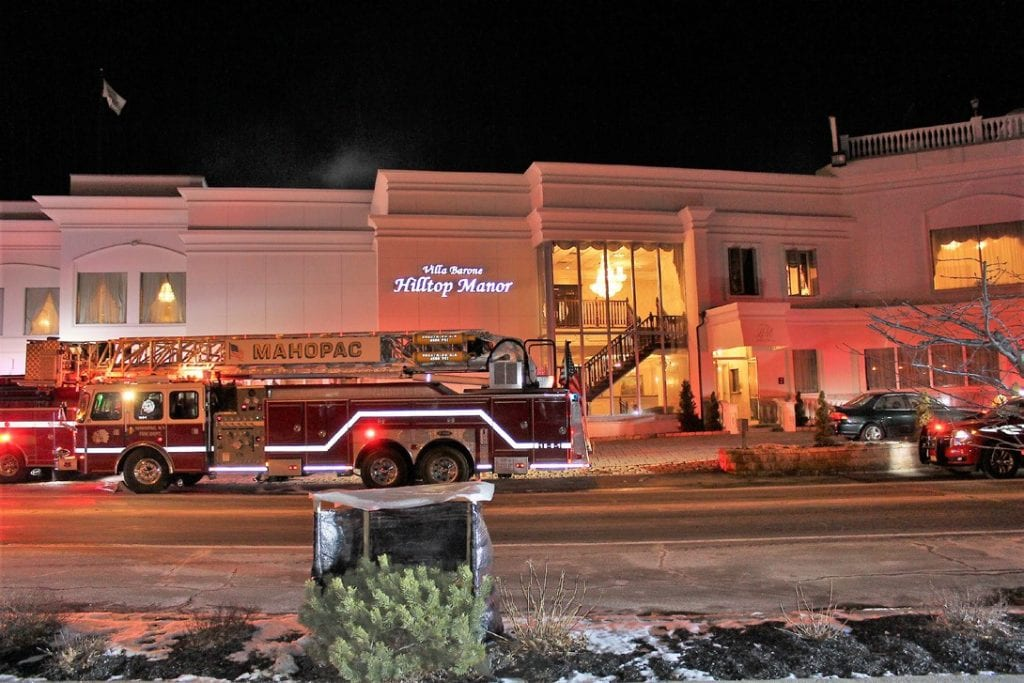 Fire apparatus from a number of departments converged on the Villa Barone in Mahopac Saturday evening for a confirmed fire Photos By Jack Casey