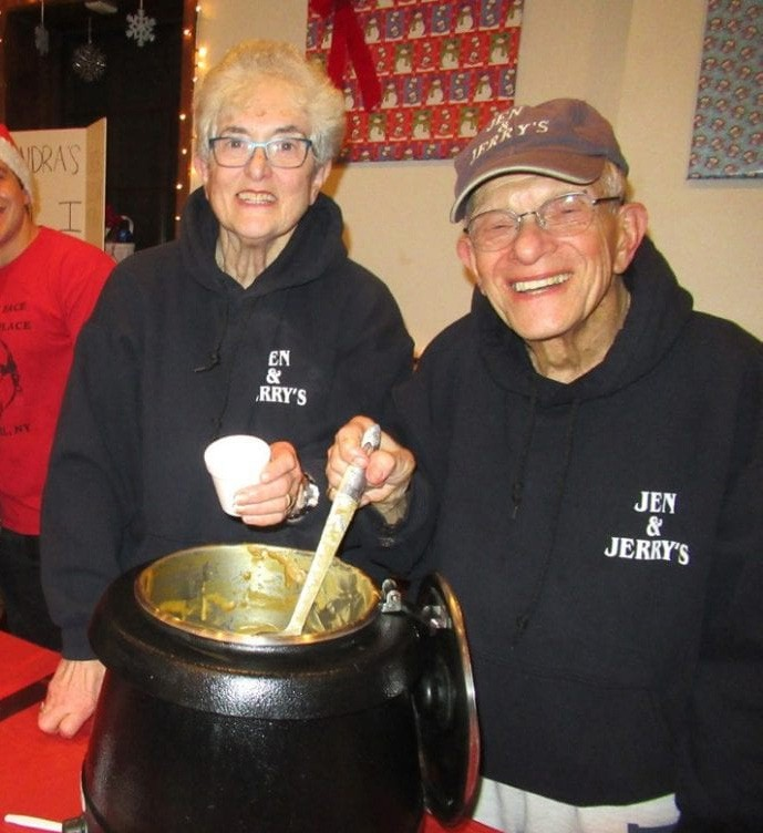 Above, Jack Tesler enjoyed greeting guests at the annual Chowder Festival in Carmel each December. Photo by Eric Gross.